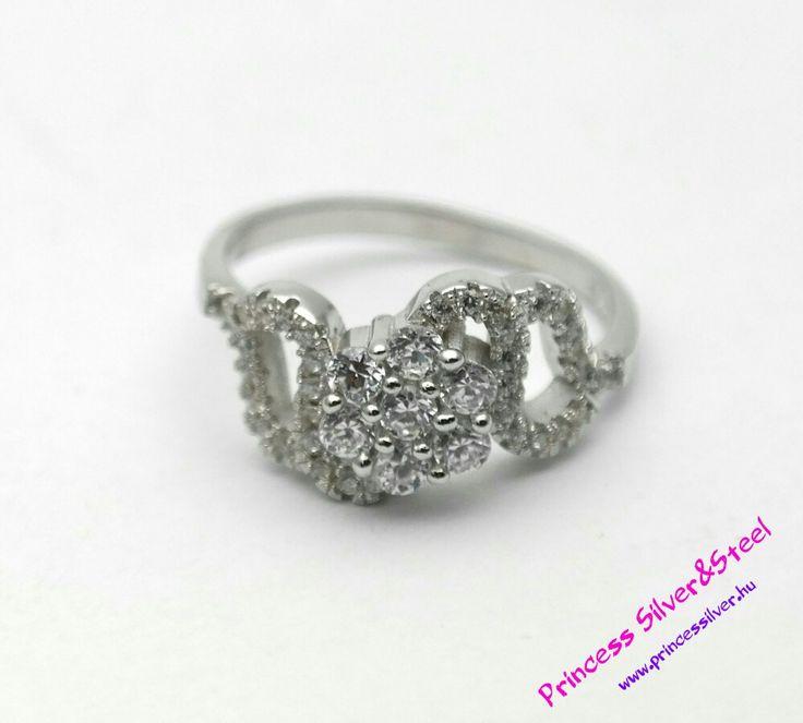 Kristályos virág, elegancia ezüst gyűrű.💍✨  www.pincessilver.hu