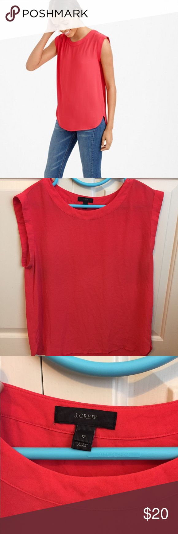 J.Crew Sleeveless Drapey Top This J.Crew top is the ideal day-to-night piece! Perfectly paired with a suit for the office or with a simple pair of denim and flats for Sunday brunch. Loose-fitting, true-to-size J. Crew Tops Blouses