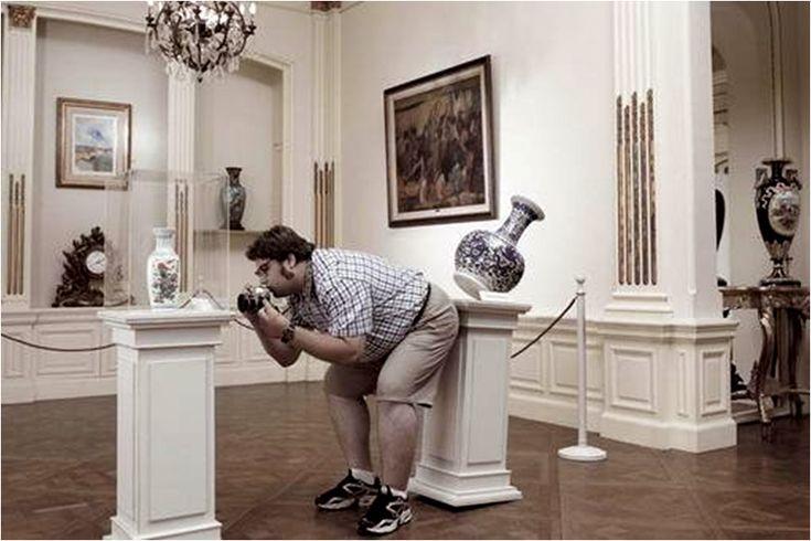 fotografo torpe! ojo cuando visites un museo
