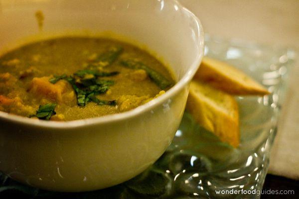 Yummy vegetables soup completely vegan in Bali, as simple as healthy! :-) #bali #indonesia #vegetarian #vegan #food #restaurant