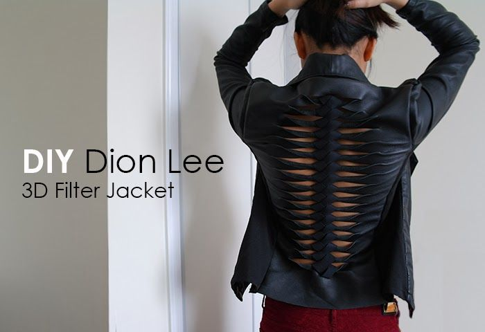 I can't believe how awesomely cool and edgy-chic this DIY cut-out jacket is! | Deconstrut: DIY Dion Lee 3D Filter Jacket |