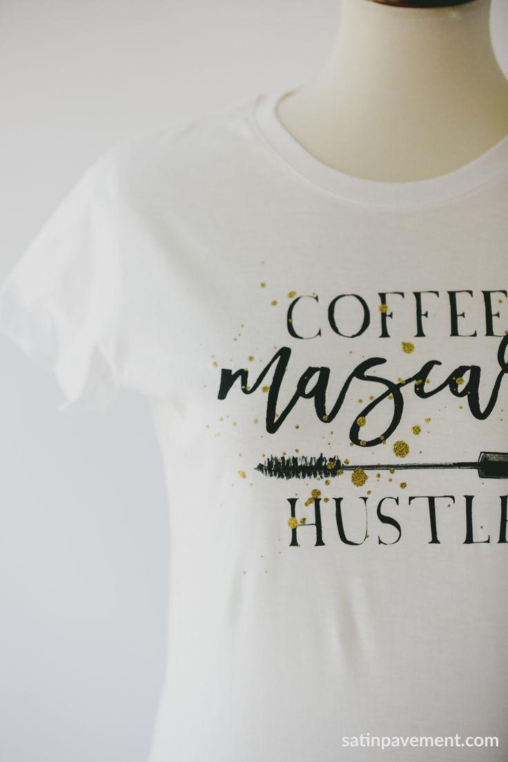 Satin Pavement ™ - Coffee Mascara Hustle Tee