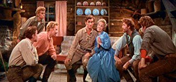 Jane Powell, Jacques d'Amboise, Matt Mattox, Marc Platt, Tommy Rall, Jeff Richards, and Russ Tamblyn in Seven Brides for Seven Brothers (1954)
