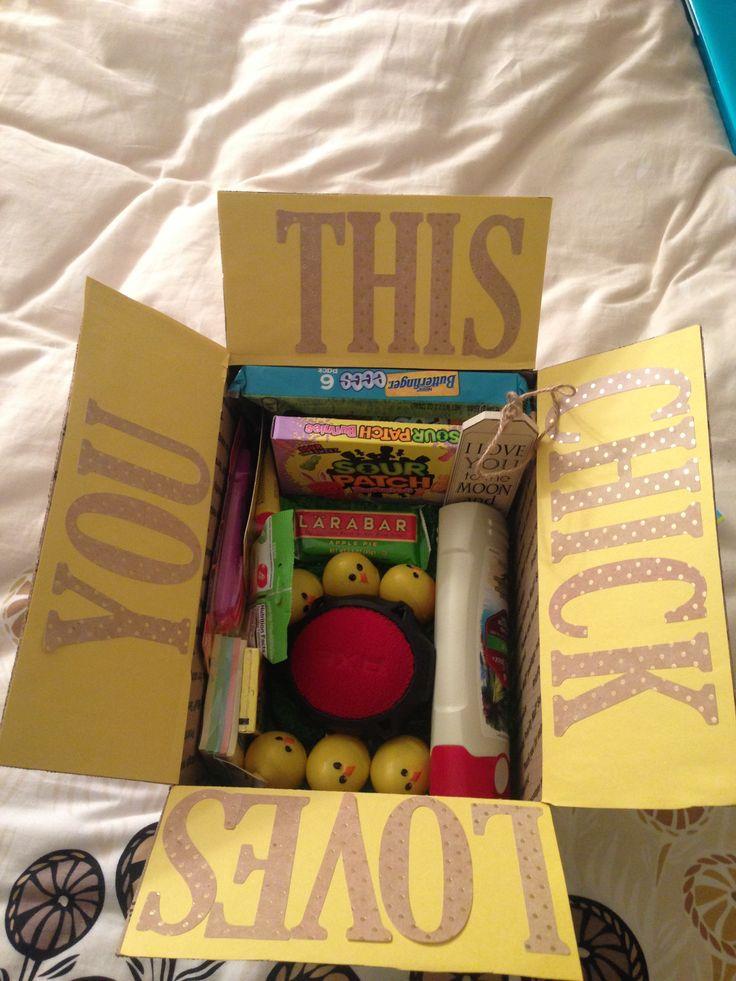 Easter care package / Easter Basket for boyfriend #carepackage #ldr #easter #chick