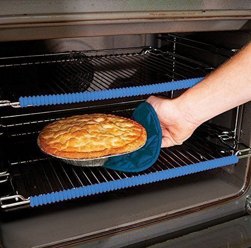 The Original Heat Resistant Silicone Oven Rack Guard, FREE Keychain Cup, FREE 8 downloadable Recipe Books, Guards for Burn Protection, special liners are best oven accessories, racks and protectors
