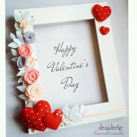 Cornice personalizzata in feltro San Valentino