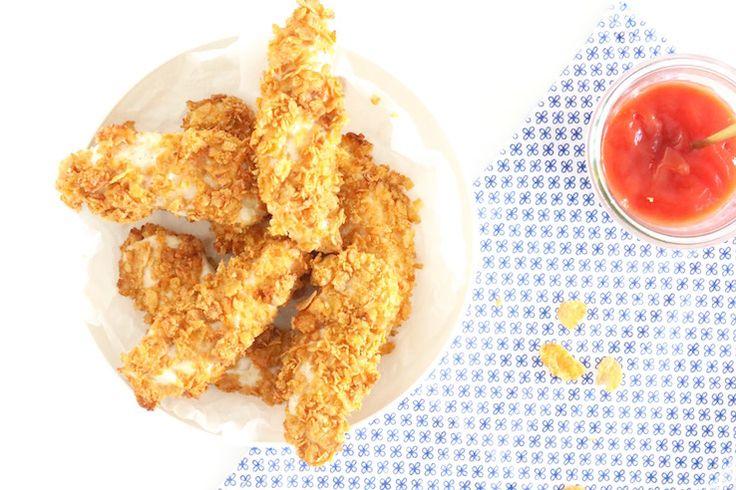 KIDS: Healthy kipvingers met ketchup