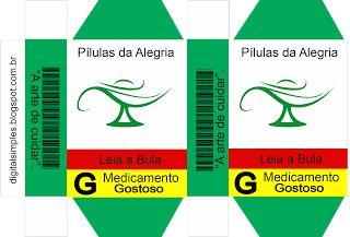 Caixinhas de Remédio Divertidas para dar de Lembrancinha em Aniversário - Convites Digitais Simples
