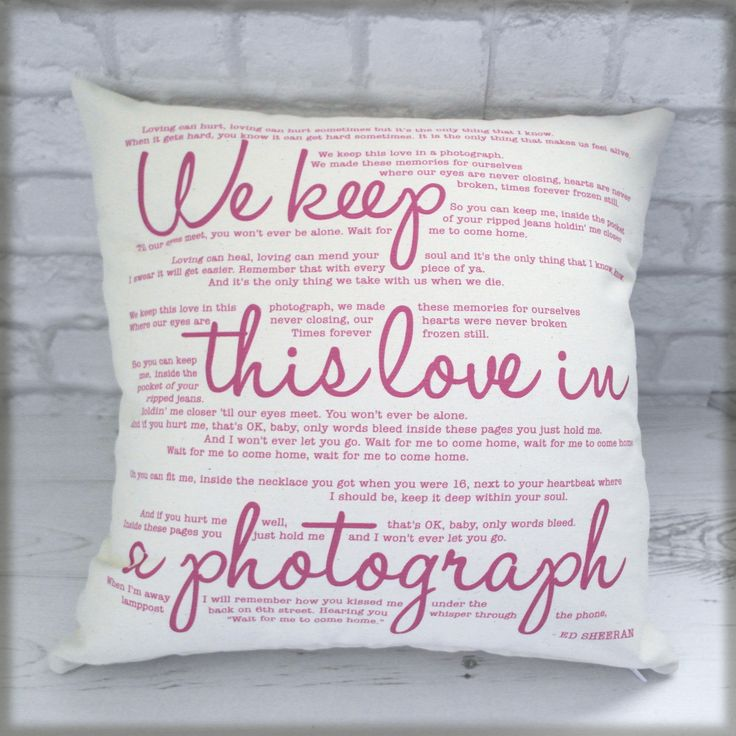 Bespoke Song Lyrics Cushion