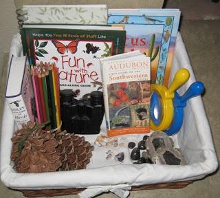 Make an indoor nature basket