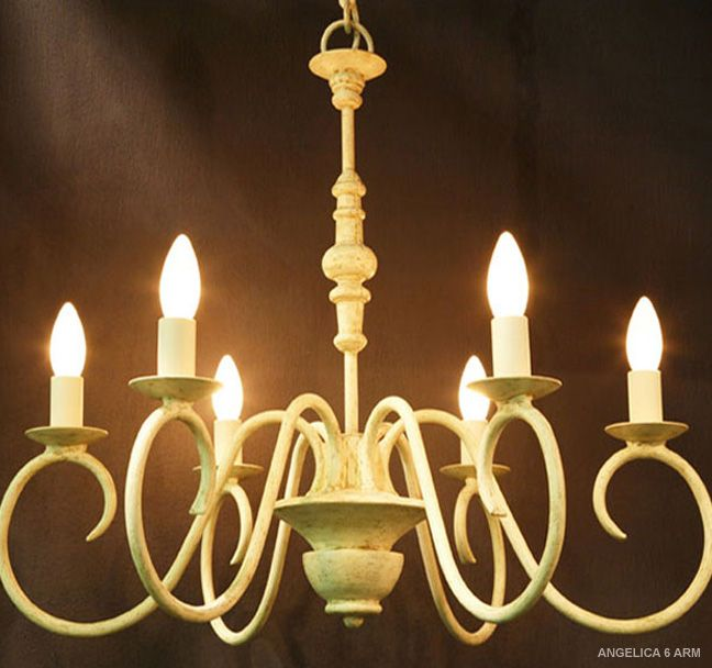 Our sweet Angelica 6 arm chandelier..
