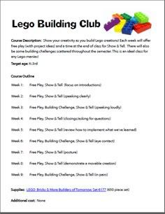 Using Legos to teach...I have a few kids that may actually get some classwork done this way! Lego Building Club | Walking by the Way