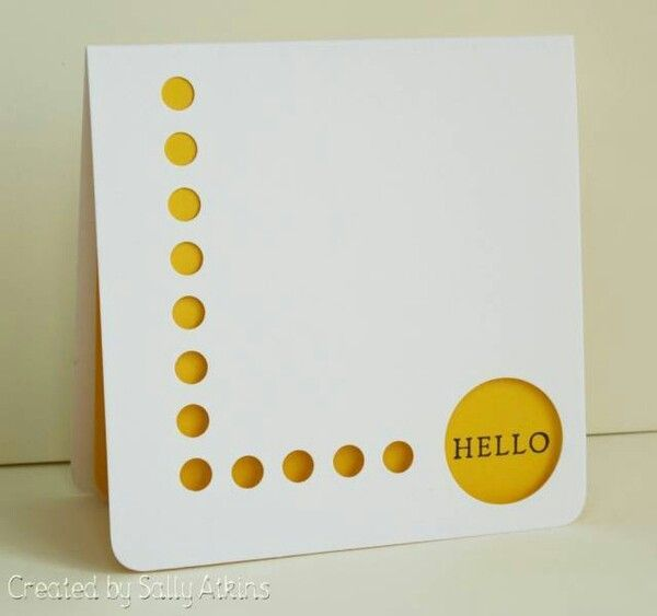Very simple. Attractive? You could change the circles to any other small design by using the decorative hole punchers.