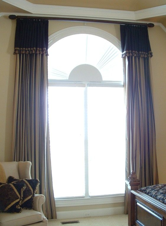 hanging curtains on arched windows | Arched Window Ideas: Bedroom