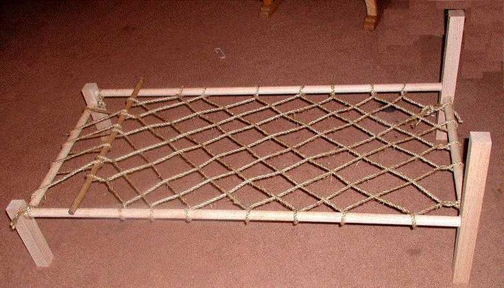 How To Make A Period Rope Bed Child Sized Adaptation At