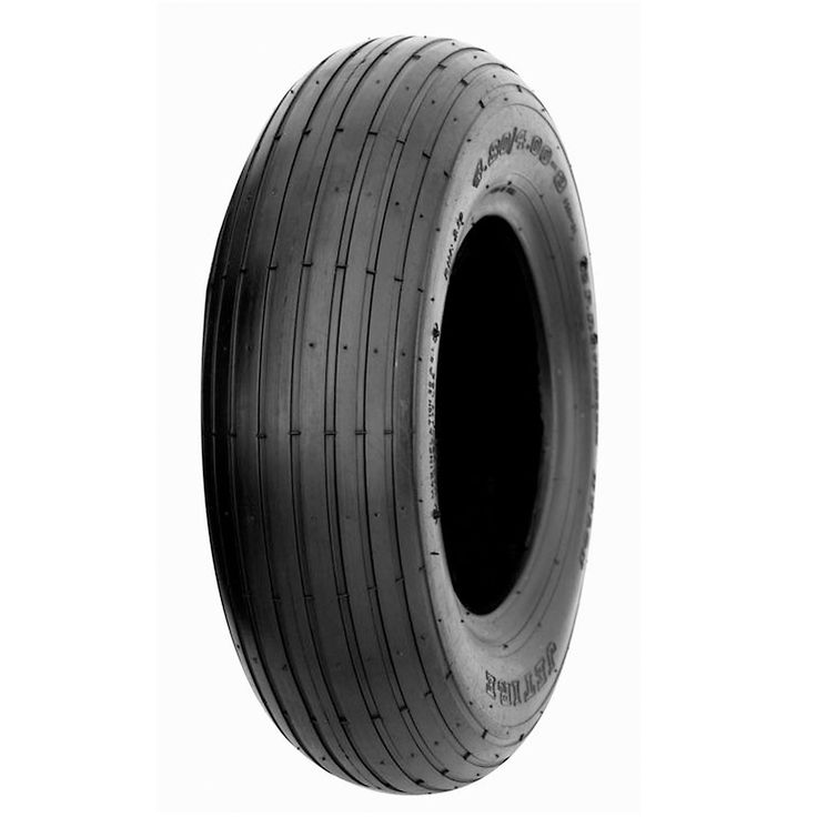 HI-RUN Wheelbarrow Tire 4.80/4.00-8 Rib, Wheelbarrow Parts