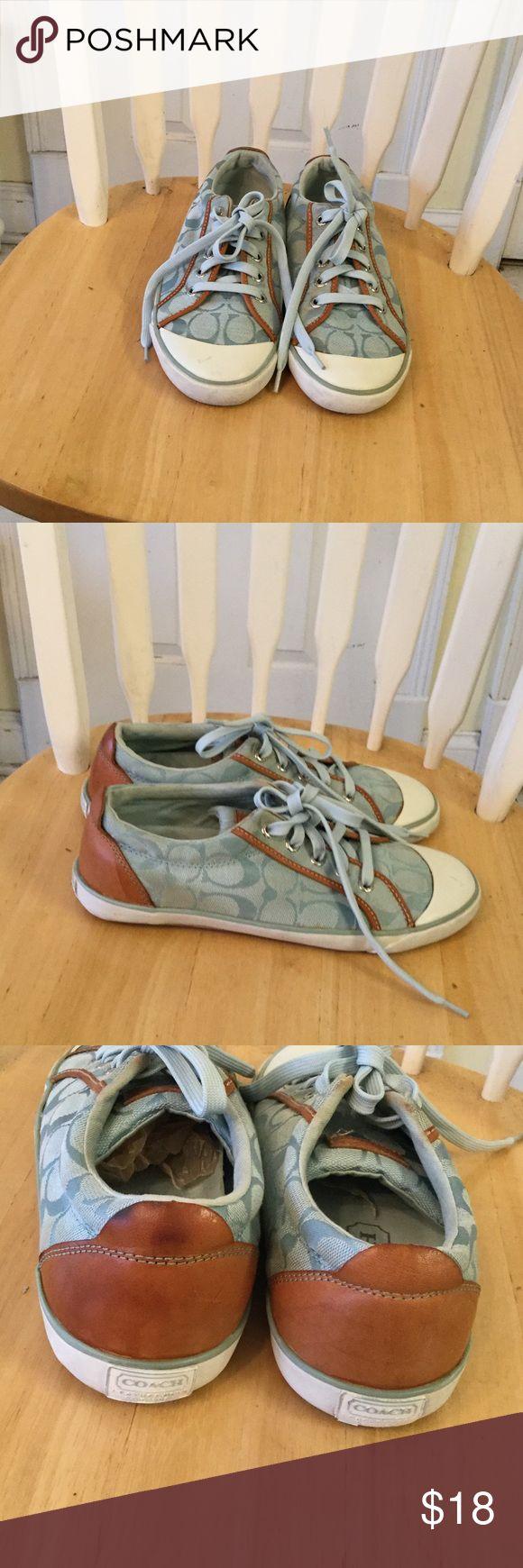 coach sneakers Light blue Signature coach sneaker Coach Shoes Sneakers