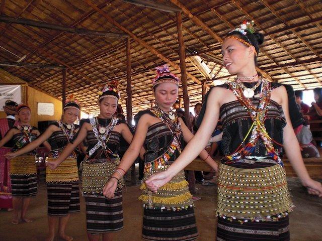 Indigenous Rungus people of Borneo,Malaysia