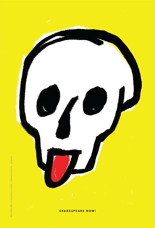 SZEKSPIR ∞ / SHAKESPEARE ∞ 16. edycja konkursu Galerii Plakatu AMS, temat: uniwersalność twórczości Szekspira 400 lat po jego śmierci (2015) / 16th edition of the AMS Poster Gallery competition, theme: the universalism of Shakespeare's works 400 years after his death (2015) / MAGDALENA TOMKOWIAK - WYRÓŻNIENIE