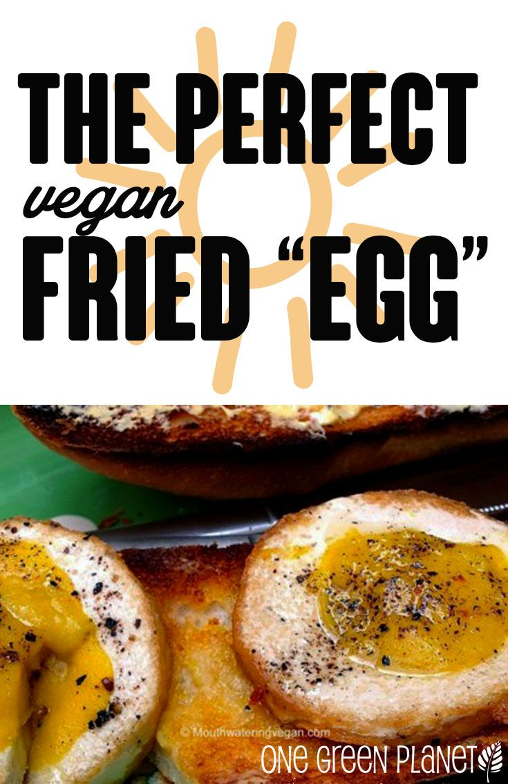 The Perfect Vegan Fried Egg...Sunny Side Up http://onegr.pl/1pcFuY7 #veganegg #recipe #breakfast