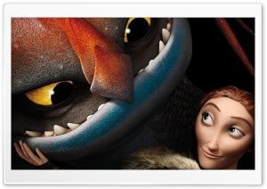 How To Train Your Dragon 2 Valka and dragon Cloudjumper HD Wide Wallpaper for Widescreen