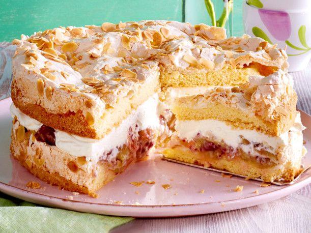 Unser beliebtes Rezept für Stachelbeer-Baiser-Torte und mehr als 55.000 weitere kostenlose Rezepte auf LECKER.de.