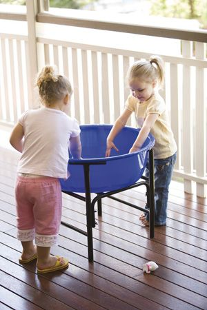 Activity Water and Sand Pond with Stand Fantastic area elevated for child to stand and play at.