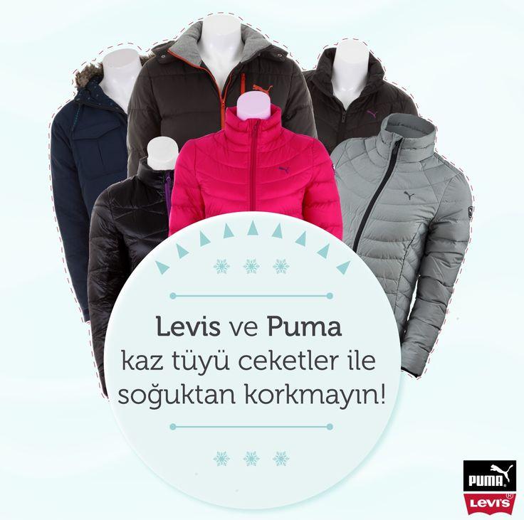 Levis ve Puma kaz tüyü ceketler yalispor.com.tr'de!