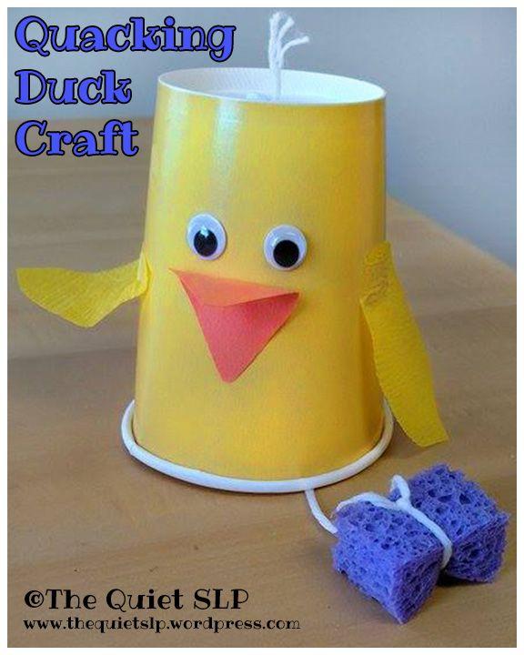 Quacking Duck Craft!   The Quiet SLP