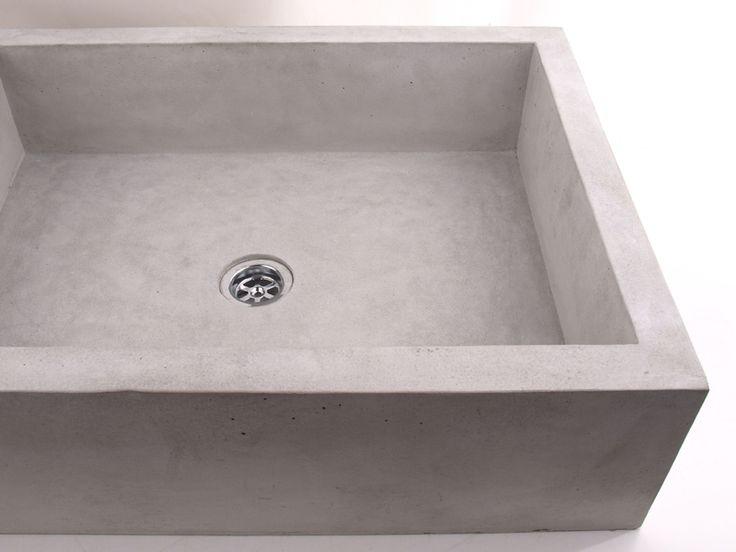 Waschbecken & Badewannen - Betonwaschbecken, Betonwaschtisch - ein Designerstück von dekornia bei DaWanda