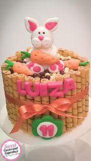 Sweet Cucas and Cupcakes by Rosângela Rolim: Fofura de mesversário de coelho!!!!