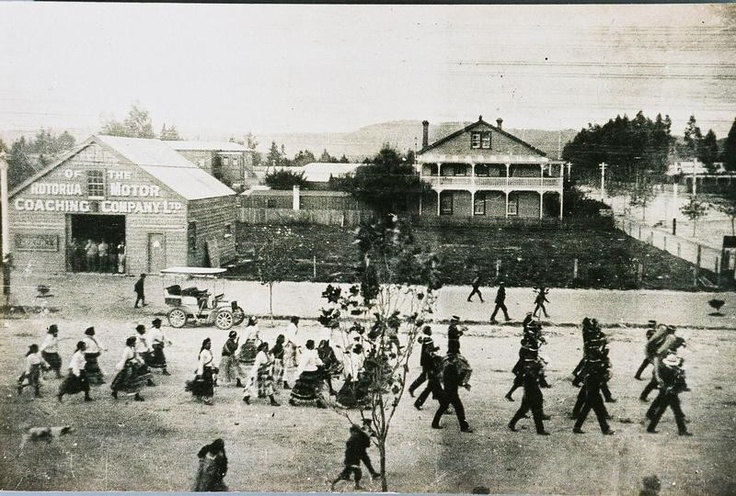 Showing the Fenton and Hinemoa Street corner. Image from the Rotorua Museum's collection. What was the parade in honour of?