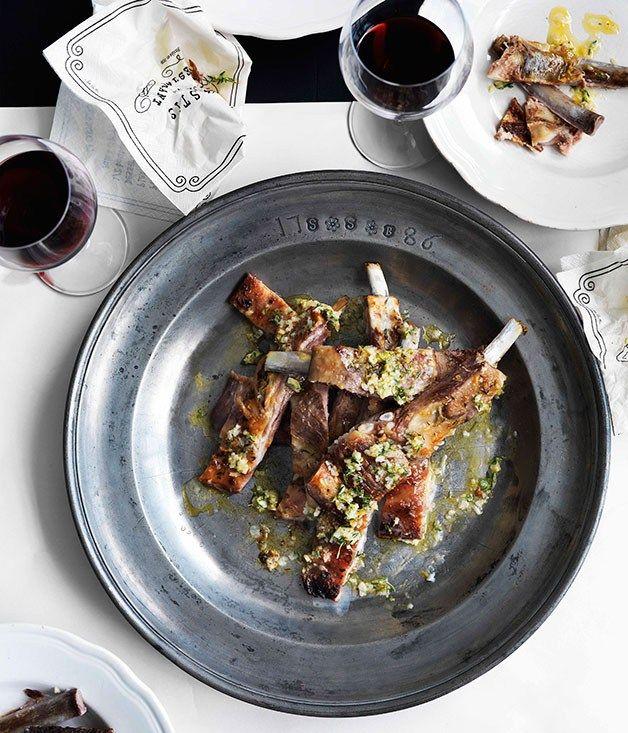 Lamb ribs with garlic, lemon and thyme - Gourmet Traveller