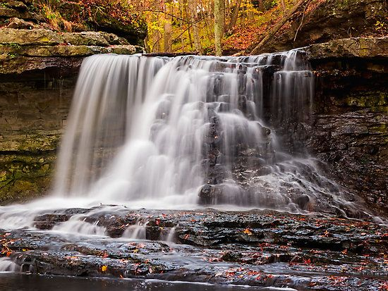 Autumn Waterfall In Mccormick S Creek State Park Indiana