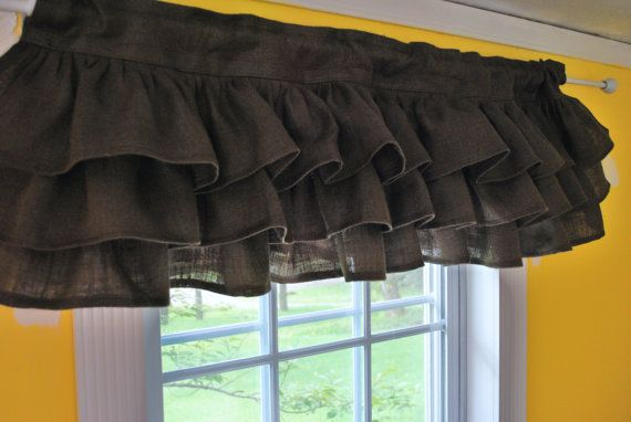 Cute flirty ruffled valance by Etsy seller PaulaAndErika
