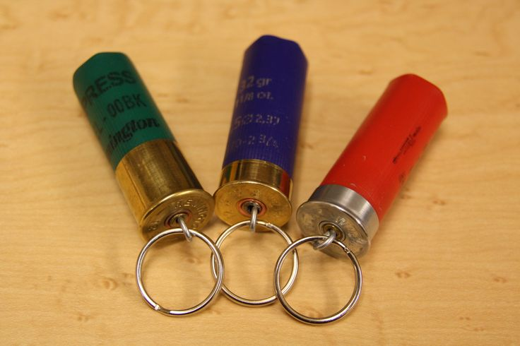12 Guage Shotgun Shell Key Chain Assorted Colors by GlockOn, via Etsy.