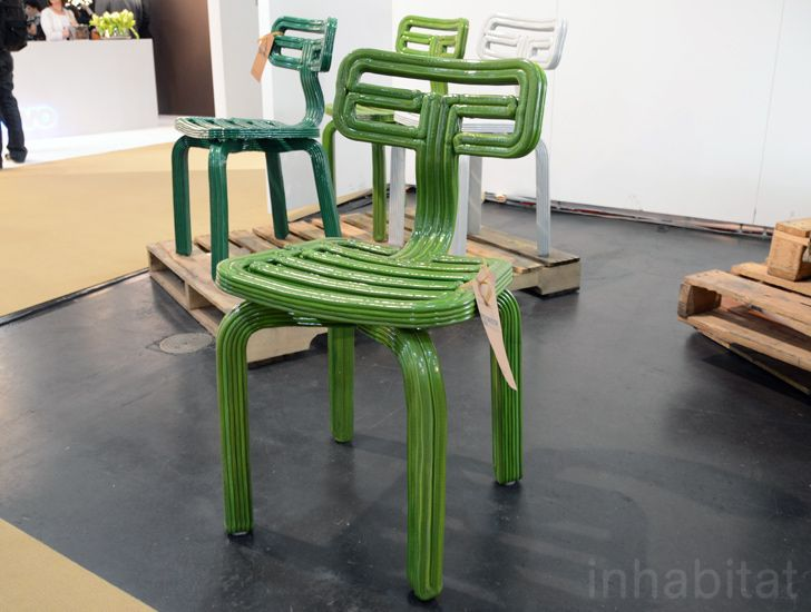 Recycled plastic garden chair