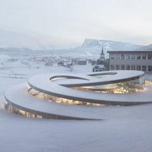 Bjarke Ingels unveils spiralling museum for Swiss watchmaker Audemars Piguet. The Maison des Fondateurs will be located at Audemars Piguet's historic workshop complex in Vallée de Joux, western Switzerland, where the company has been based since its establishment in 1875.