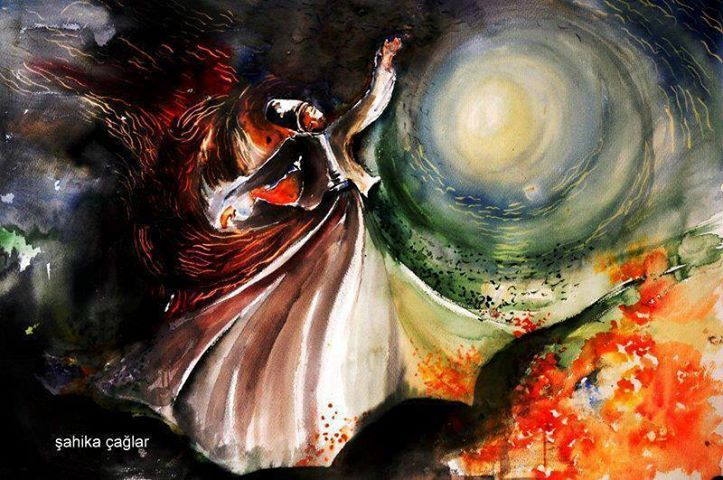 """If one day I am given a moment in solitude with you. I will trample the two worlds underfoot and dance forever"""". -Shams Tabrizi"""
