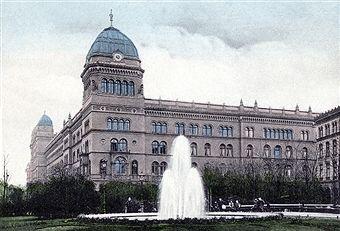 Berlin Alexanderplatz ca 1910 Das Koenigliche Polizeipraesidium in der Dircksenstrasse