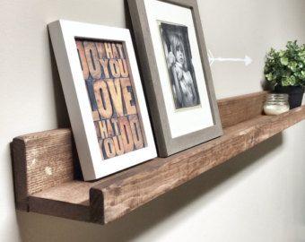 Rustic Wooden Picture Ledge Shelf Gallery Wall Shelf Rustic