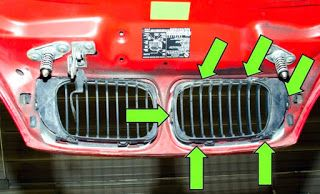 Schimbarea grilelor de radiator BMW