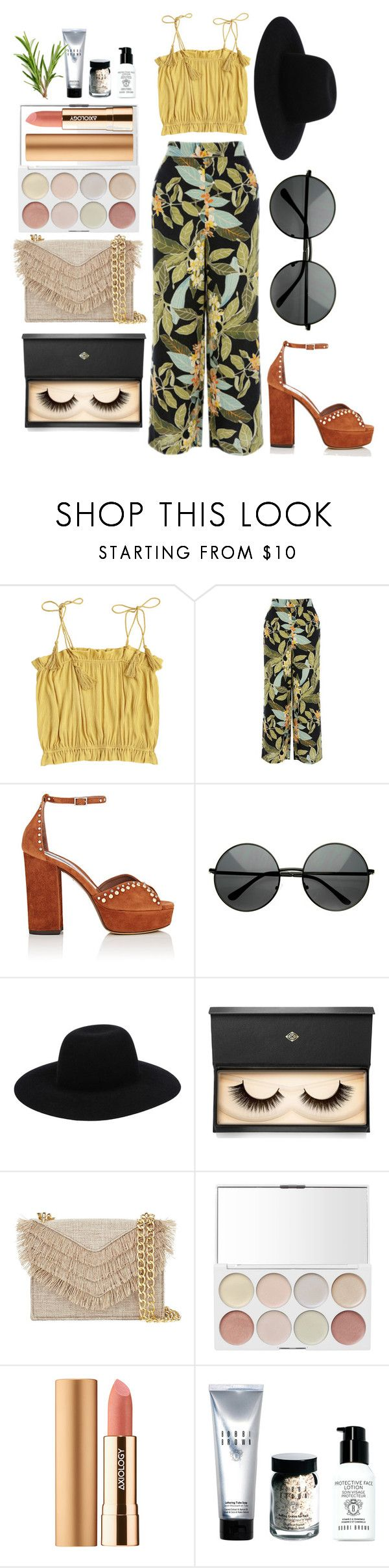 """""""Contest//sleeveless top"""" by eva-l118 ❤ liked on Polyvore featuring Warehouse, Tabitha Simmons, Off-White, Lash Star Beauty, Cynthia Rowley, Axiology and Bobbi Brown Cosmetics"""