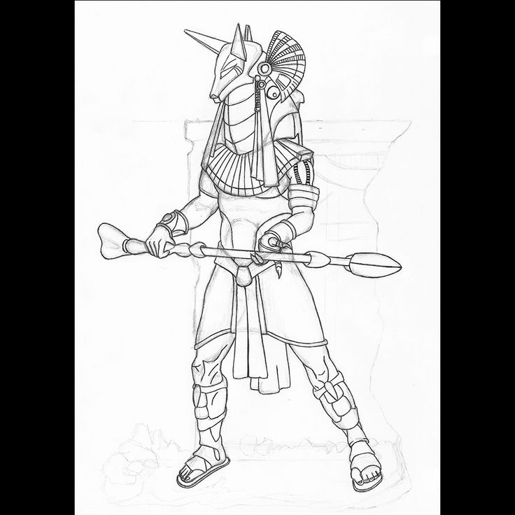 Anubis from Stargate | pen drawing | 2011 on Behance
