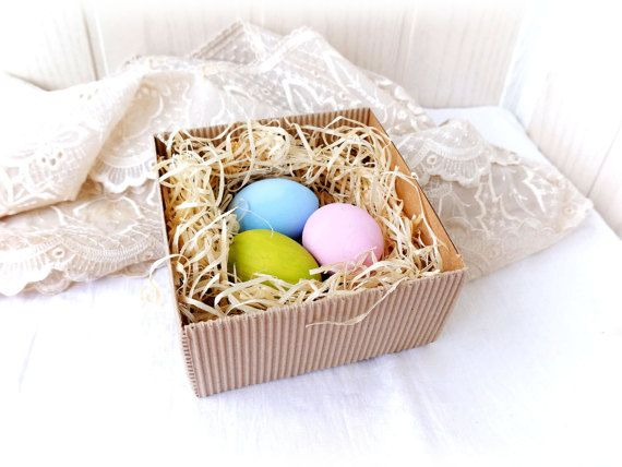 Wooden Easter eggs Pastel Set of 3 Easter decor Spring decor Eco-friendly Natural wooden toy Hand-painted eggs Pretend kitchen