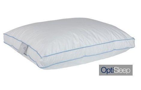 Hoofdkussen Optisleep OS310 gevuld met 30 procent eendendons 1000 gram. Boxmodel. Leverbaar in de maat 50x70 en 60x70 cm slaapkenner theo bot