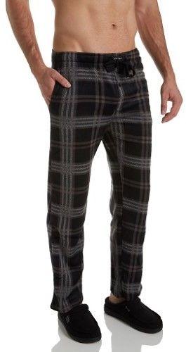 Lucky Brand Lucky 173LP14 Men's Soft Fleece Pajama Pant (Plaid/Jet Black M)