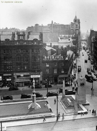 War Memorials St Peters Square and Oxford Road 1952, Manchester.