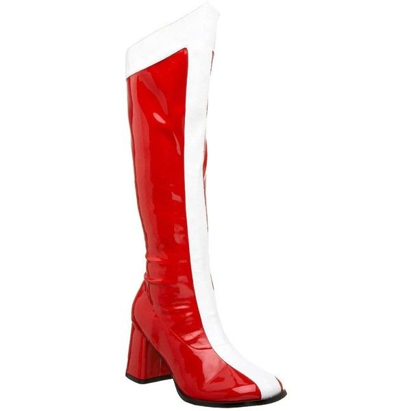Funtasma Women's 'Gogo-305' Red/ White Wonder Woman Knee-high Boots ($68) ❤ liked on Polyvore featuring costumes, red, sexy adult costumes, wonder woman costume, sexy costumes, sexy wonder woman halloween costume and adult women costumes