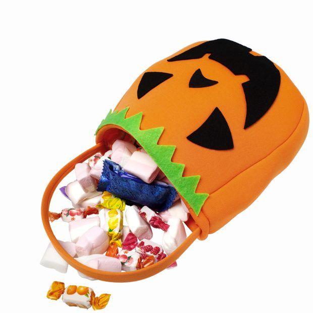 Proyectos de bolsa de obsequio de tela para Halloween